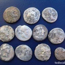 Monedas Roma República: LOTE DE 10 DENARIOS Y 1 QUINARIO DE LA REPUBLICA DE ROMA, FAMILIAS DIFERENTES.. Lote 151656242