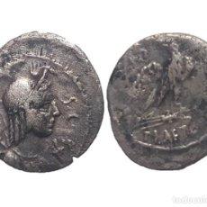 Monedas Roma República: DENARIO REPUBLICANO - FAMILIA PLAETORIA (67 AC) - 20 MM / 3,15 GR.. Lote 151950538