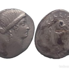 Monedas Roma República: DENARIO REPUBLICANO - FAMILIA CARISIA (46 AC) - 19 MM / 3,45 GR.. Lote 151951178