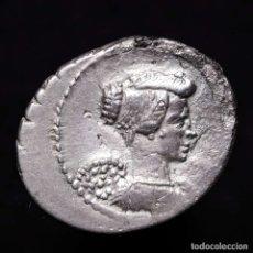 Monedas Roma República: L. MUSSIDIUS LONGUS, DENARIO DE PLATA. ROMA, 42 A.C. L MVSSIDIVS. Lote 152036584