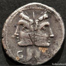 Monedas Roma República: DENARIO REPÚBLICA FONTEIA JANO C.FONT ROMA 109 A.C.. Lote 153396102