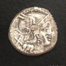 Monedas Roma República: DENARIO R. ROMANA.ANÓNIMO 187–175 A.C.ESCASA ( AUTÉNTICO). Lote 155929826