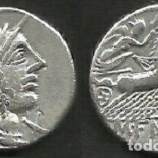 Monedas Roma República: FANNIA - DENARIO REPUBLICANO - ROMA 123 A C.- MBC.. Lote 156547222