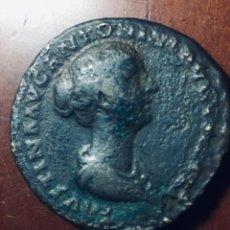 Monedas Roma República: 23,87GRS GRS ENORME SESTERCIO DE FAUSTINA EN MBC+ MBC-. Lote 163755998