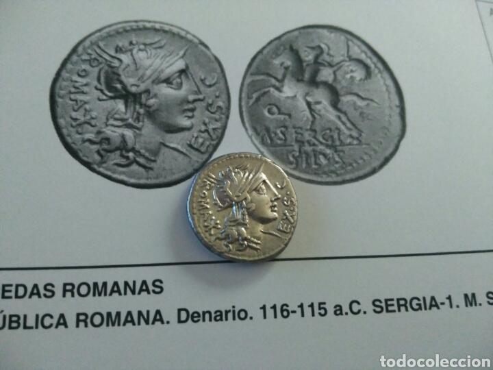 Monedas Roma República: Denario Republicano 116-115 a.C Familia SERGIA-1 Sergius Silus Norte Italia 3,85 gr y certificado - Foto 6 - 167785676