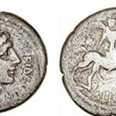 Monedas Roma República: DENARIO ROMANO REPUBLICANO FAMILIA LICINIA 47 AC 3,50 GR CON CERTIFICADO AUTENTICIDAD. Lote 171119630