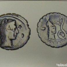 Monedas Roma República: BELLO DENARIO ROMANO REPUBLICANO FAMILIA ROSCIA 64 AC JUNO SACERDOTISA SERPIENTE 3,67 GR SERRATO. Lote 172229803