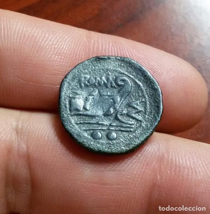 Monedas Roma República: República romana - Sextans de bronce anónimo Serie MA, Roma 210 AC P. Manlius Vulso - Foto 3 - 173068567