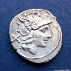 Monedas Roma República: BONITO DENARIO ROMANO REPÚBLICA REPUBLICANO PLATA ROMA ANÓNIMO REVERSO GRIFO Y DIOSCUROS. Lote 174419222