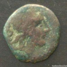 Monedas Roma República: SEMI IBERO ROMANO, 187/155 A.C CABEZA DE SATURNO, REVERSO PROA NAVE. Lote 174490125