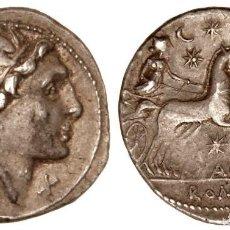 Monedas Roma República: PRECIOSO DENARIO ROMANO PLATA REPÚBLICA REPUBLICANO FAMILIA AQUILIA MAN. AQUILLIUS 109 AC. Lote 174491797