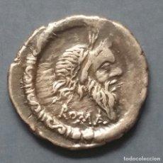 Monedas Roma República: DENARIO REPUBLICANO D. JUNIUS SILANUS 91 A.D.C.. Lote 174994355