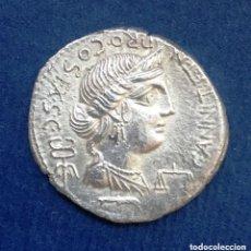 Monedas Roma República: DENARIO ROMANO DE PLATA ANNIA : ANNIUS LUSCUS / LUCIUS FABIUS L.F. HISPANIENSIS CECA HISPANIA. Lote 175055285
