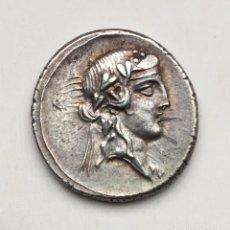 Monedas Roma República: BONITO DENARIO REPÚBLICA Q TITIUS FAMILIA TITIA ROMA REV PEGASO AÑO 90 ANTES CRISTO. Lote 176989693