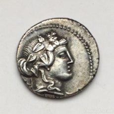 Monedas Roma República: BONITO DENARIO REPÚBLICA L CASSIUS Q F LONGINUS FAMILIA CASIA CABEZA DE BACO Y LIBERIA. Lote 177002215