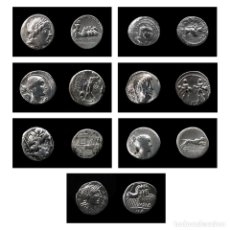 Monedas Roma República: 7 DENARIOS DE PLATA-ROMA-FAMILIA GARGILIA-BALBINO ANTONINIANO-VALERIA-TITURIA-RUBRIA-POSTUMIA-CURTIA. Lote 177516914