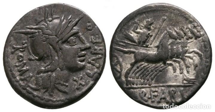 REPÚBLICA ROMANA. DENARIO. MINERVA / CUADRIGA DE LA REPÚBLICA DE ROMA 3,87 G / 18 MM. EBC+ (Numismática - Periodo Antiguo - Roma República)