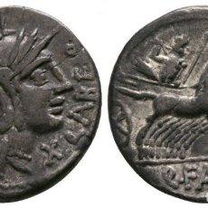 Monedas Roma República: REPÚBLICA ROMANA. DENARIO. MINERVA / CUADRIGA DE LA REPÚBLICA DE ROMA 3,87 G / 18 MM. EBC+. Lote 178313695