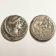 Monedas Roma República: REPÚBLICA ROMANA DENARIO PLATA FAMILIA PLAUTIA.. Lote 182466010