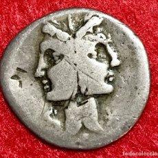 Monedas Roma República: DENARIO REPUBLICANO DE LA GENS FONTEIA - C.FONTEIUS 114-113 A.C - 3,47G - BC+ - MUY ESCASA . Lote 182906676