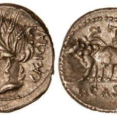 Monedas Roma República: BONITO DENARIO ROMANO PLATA REPÚBLICA REPUBLICANO FAMILIA CASSIA L. CASSIUS CAECIANUS 102 AC. Lote 184750185