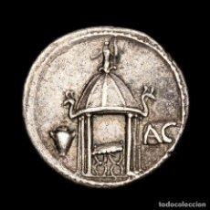 Monedas Roma República: REPÚBLICA ROMANA Q. CASSIUS LONGINUS, DENARIO ROMA 55 B.C. TEMPLO.. Lote 186388920