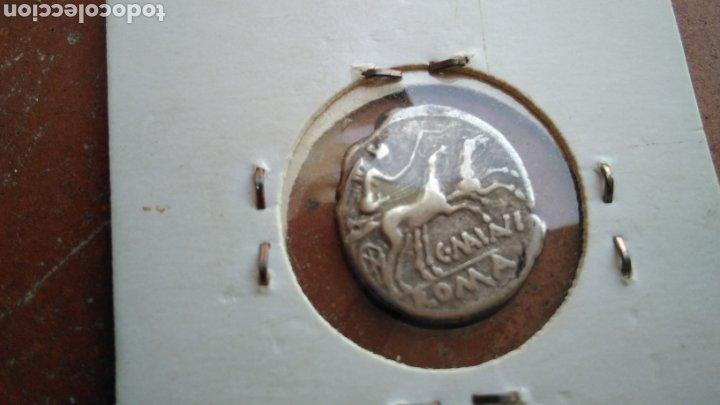 Monedas Roma República: bonito Denario Republicano,de plata , Familia Minucia 133- 126 A.C., - Foto 2 - 188459931
