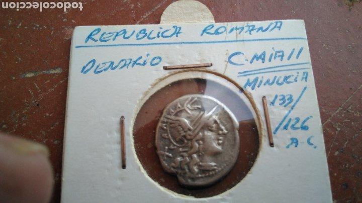 Monedas Roma República: bonito Denario Republicano,de plata , Familia Minucia 133- 126 A.C., - Foto 3 - 188459931