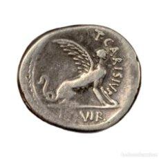Monedas Roma República: REPÚBLICA ROMANA - DENARIO T. CARISIUS. CECA ROMA. 46 A.C. MUY ESCASO. Lote 189311746