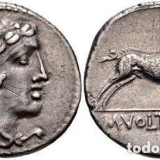 Monedas Roma República: DENARIO ROMANO REPÚBLICA VOLTEIA VOLTEI M VOLTEIUS M.F. CABEZA DE HÉRCULES / JABALÍ 76 AC. Lote 191833676