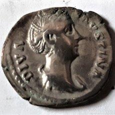 Monedas Roma República: BONITO DENARIO DE PLATA - IMPERIO ROMANO - FAUSTINA DIVA - (105 - 141 D. DE C.). Lote 197908410