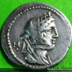 Monedas Roma República: FABIA, DENARIO, MBC+, AG, F.F.C.-702, 3,9GRS.. Lote 198511341