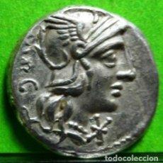 Monedas Roma República: VARGUNTEIA, DENARIO, EBC/EBC-, AG, F.F.C.-1183, SEABY.- 1, 3,1GRS. BONITA. Lote 198511591