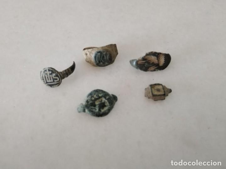 BONITO LOTE ENTALLES ANILLOS IBERO ROMANO Y MEDIEVAL. (Numismática - Periodo Antiguo - Roma República)