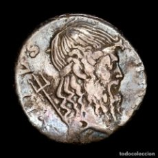 Monedas Roma República: SEXTO POMPEYO MAGNO. DENARIO. ROMA 42-40 AC. NEPTUNO / TROFEO. Lote 205769447