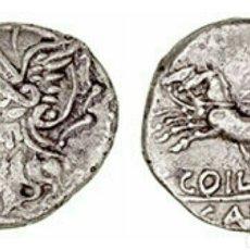Monedas Roma República: DENARIO REPÚBLICA FAMILIA COELIA 104 AC ROMA VICTORIA EN BIGA C COIL CALD 3,71 GR CERTIFICADA. Lote 206246988