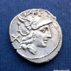 Monedas Roma República: BONITO DENARIO ROMANO REPÚBLICA REPUBLICANO PLATA ROMA ANÓNIMO REVERSO GRIFO Y DIOSCUROS. Lote 209049982