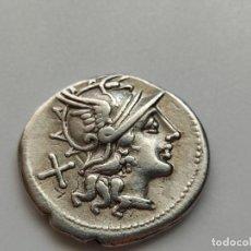 Monedas Roma República: REPUBLICANO ROMA.. DENARIO GENS AFRANIA. DENARIO. (BAB. 1) (CRAW. 206/1). 3,90G. EBC+. Lote 210118625