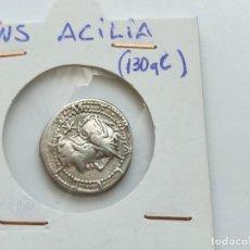 Monedas Roma República: ROMA REPUBLICA.GENS ACILIA.. DENARIO.130 A.C. (BAB. 4) (CRAW. 255/1). 3,89 G. Lote 210120775
