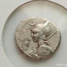 Monedas Roma República: REPÚBLICA ROMANA - AR DENARIO, P. LICINIUS NERVA (113-112 A.C.) 3.75G. Lote 210121592