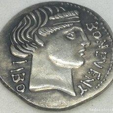 Monedas Roma República: RÉPLICA MONEDA AÑO 62 A.C. 1 DENARIO. FAMILIA SCRIBONIA. REPÚBLICA ROMANA. DIOS BONUS. Lote 216850797