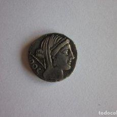 Monedas Roma República: DENARIO REPUBLICANO. FAM. RUBRIA. PLATA. ESCASO.. Lote 216892546