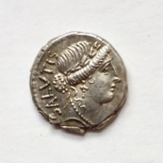 Monedas Roma República: DENARIO PLATA REPÚBLICA ROMANA FAMILIA ACILIA MANNIUS ACILIUS GLABRIO - SALVTIS. Lote 218955188