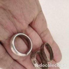 Monedas Roma República: LOTE ANILLOS ROMANOS DE PLATA UNO TALLADO LETRAS L Y M. Lote 220255088