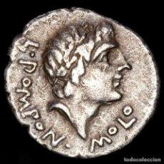 Monedas Roma República: L. POMPONIUS MOLO DENARIO 97 AC. NUMA POMPILIUS SACRIFICANDO CABRA.. Lote 221990610