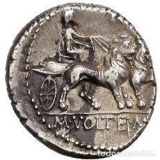 Monedas Roma República: ROMA REPÚBLICA - M. VOLTEIUS M. F. CYBELE EN BIGA DE LEONES. 75 AC.. Lote 221991721