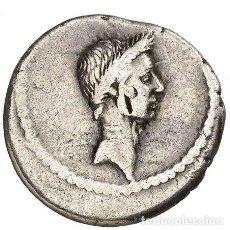 Monedas Roma República: JULIO CÉSAR DENARIO L·MVSSIDIVS·LONGVS TIMON, GLOBO, CARNUCOPIA,CAD.. Lote 222000345