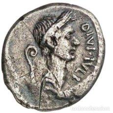 Monedas Roma República: JULIO CÉSAR, DENARIO, VOCONIUS VITULUS, Q•VOCONIVS VITVLVS•Q DESIGN. Lote 222000916