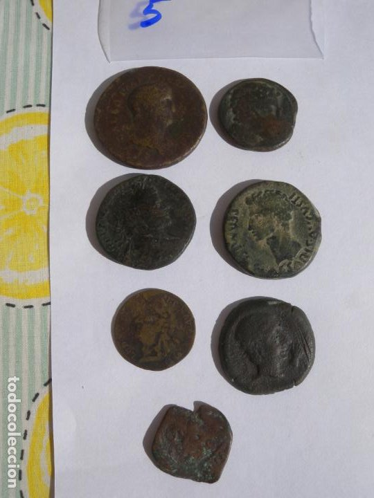 LOTE 7 MONEDAS (Numismática - Periodo Antiguo - Roma República)