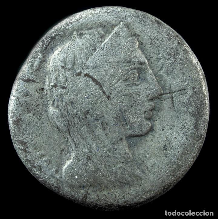 DENARIO REPUBLICANO, FAMILIA MARCIA (82 AC) 16 MM / 3.46 GR. (Numismática - Periodo Antiguo - Roma República)